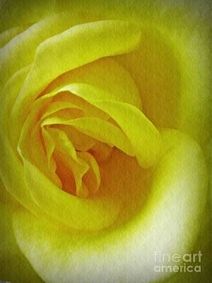 Photograph - Soft Yellow Rose by Sarah Loft