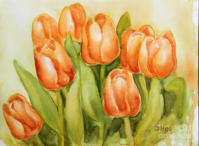 Painting - Soft Yellow Spring Tulips by Inese Poga