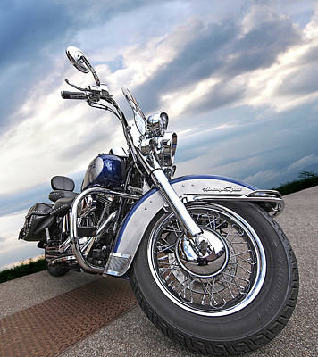 Photograph - Softail Blues  by Gill Billington