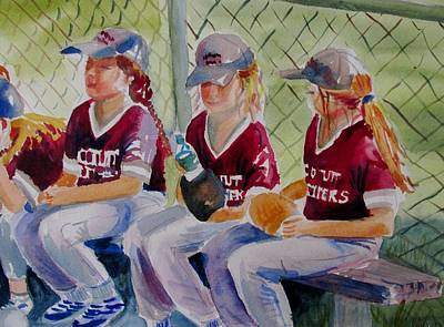Softball Painting - Softball  by Linda Emerson