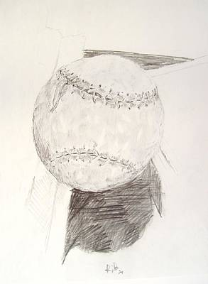Drawing - Softball by Ron Bissett
