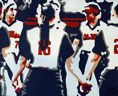 Softball Painting - Softball Sisterhood by Steve Cochran