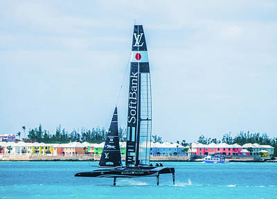 Photograph - Softbank Team Japan Sailing In Bermuda by Jeff at JSJ Photography