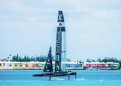 Photograph - Softbank Team Japan Sailing In Bermuda by Jeff at JSJ Photography