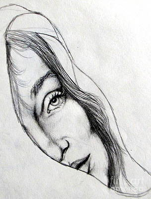 Drawing - Softly Wrapped by Georgia's Art Brush