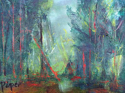 Painting - Softlit Forest by Betty Pieper