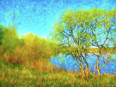 Digital Art - Softly As A Spring Day by Joel Bruce Wallach