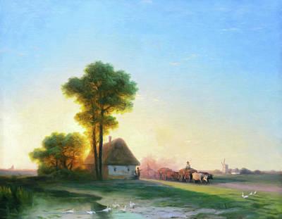 The Trees Mixed Media - Softly As The Morning Sun Rises by Georgiana Romanovna