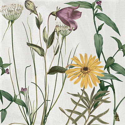 Softly Crocus And Daisy Print by Mindy Sommers