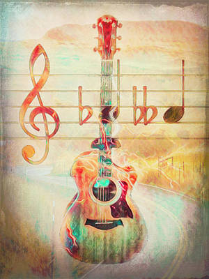 Photograph - Softly She Plays, Music Is Everything  by Debra and Dave Vanderlaan
