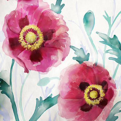 Watercolor Painting - Softwetfloral by Mauro DeVereaux