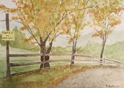 Painting - Soggy Day by Rachel Barlow