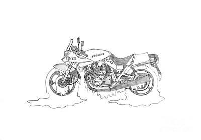 Soggy Suzuki Katana Art Print