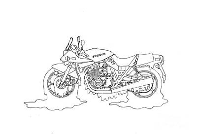 Final Four Drawing - Soggy Suzuki by Stephen Brooks
