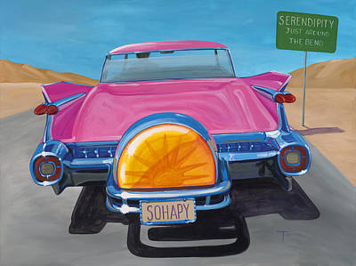 Cadillac Painting - Sohapy by Lucretia Torva