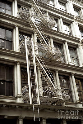 Nyc Fire Escapes Photograph - Soho Architecture by John Rizzuto