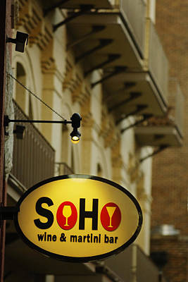 Soho Wine Bar Art Print by Jill Reger
