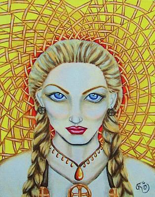 Norse Goddess Painting - Sol by Christina Marin