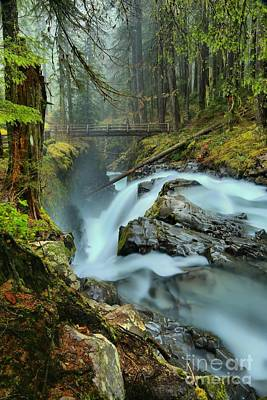 Photograph - Sol Duc Bridge Portrait by Adam Jewell