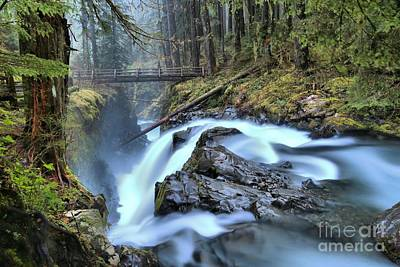 Photograph - Sol Duc Canyon Bridge by Adam Jewell