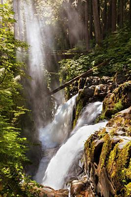 Photograph - Sol Duc Falls by Adam Romanowicz