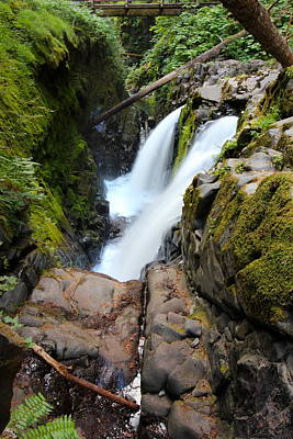Abstract Shapes Janice Austin Royalty Free Images - Sol Duc Falls Five Royalty-Free Image by Nicholas Miller