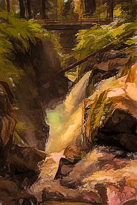 Olympic National Park Painting - Sol Duc Falls Washington Painting by Dan Sproul