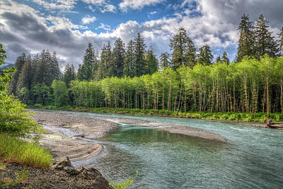 Photograph - Sol Duc River At Hoh by Spencer McDonald