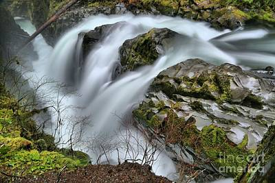 Photograph - Sol Duc Triple Falls by Adam Jewell