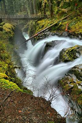 Photograph - Sol Duc Triple Falls Portrait by Adam Jewell