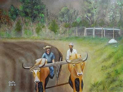 Puerto Rico Painting - Sol Tierra Y Sudor by Guito