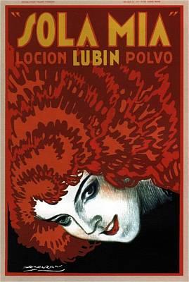 Mixed Media - Sola Mia Lubin - Hair Lotion - Vintage Advertising Poster by Studio Grafiikka