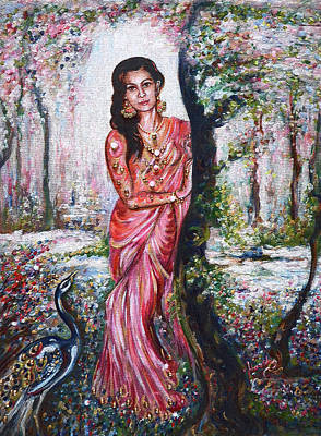Painting - Sola Shringar - Indian Bride by Harsh Malik