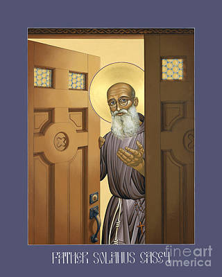 Holy Trinity Icon Painting - Solanus Casey - Lwvsc by Lewis Williams OFS