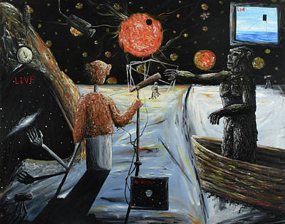 Painting - Solar Broadcast -transition- by Ryan Demaree