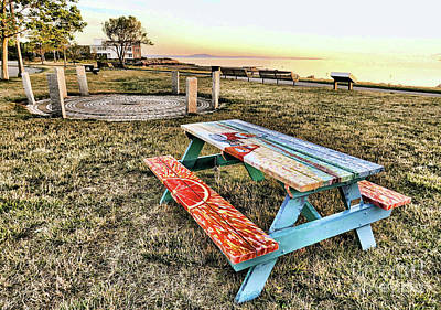 Photograph - Solar Calendar And Picnic Table by Janice Drew