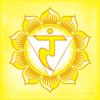 Digital Art - Solar Plexus Chakra by David Weingaertner