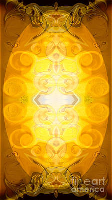 Digital Art - Solar Chakra Energy Abstract Organic Bliss Art By Omaste Witkows by Omaste Witkowski