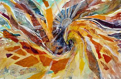 Painting - Solar Chakra Meditation by Christie Michelsen