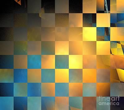 Digital Art - Solar Checkers by Kim Sy Ok