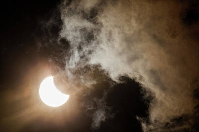 Photograph - Solar Eclipse 1 by Amy Warr