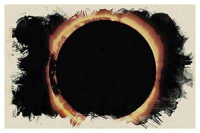 Painting - Solar Eclipse 2017 3 by Celestial Images