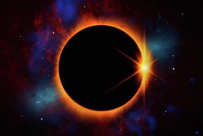 Photograph - Solar Eclipse 2017 by Justin Kelefas