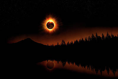 Photograph - Solar Eclipse 2017 by Lori Grimmett