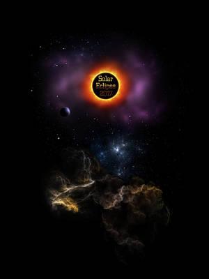 Digital Art - Solar Eclipse 2017 Nebula Bloom by Xzendor7