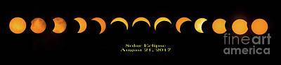 Photograph - Solar Eclipse 2017 by Nick Zelinsky
