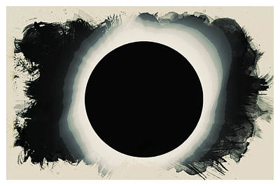 Solar Eclipse 2017 Watercolor Art Print
