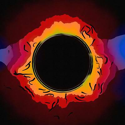 Painting - Solar Eclipse 3 by Celestial Images