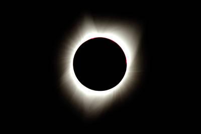 Photograph - Solar Eclipse 3 by Larry Kjorvestad