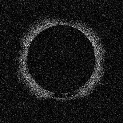 Painting - Solar Eclipse By Hinode Observes, Nasa 2 by Celestial Images